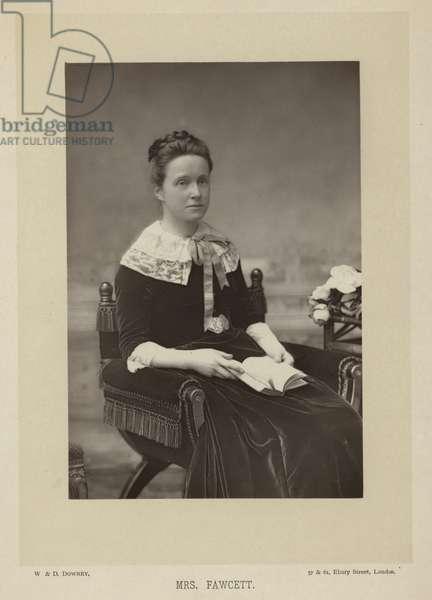 Mrs fawcett (b/w photo)
