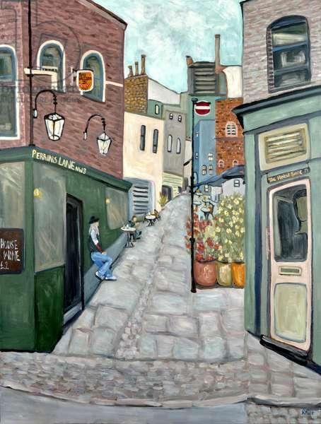 Haunted Pub Hampstead, 2018 (acrylic on canvas)