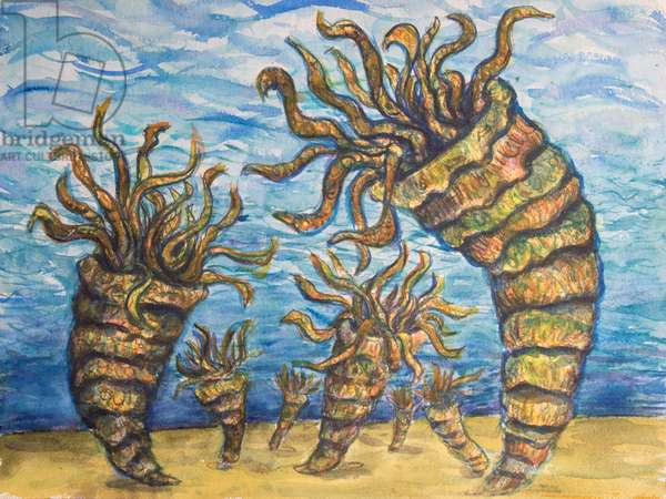 Rugose (Ordovician), 2017 (mixed media on paper)
