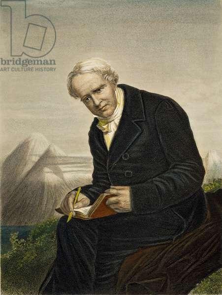 ALEXANDER von HUMBOLDT (1769-1859). German naturalist, traveler, and statesman. Engraving, 19th century.