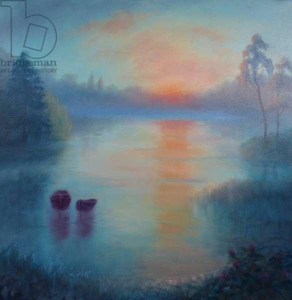 Morning Drift, 2018, (oil on canvas)