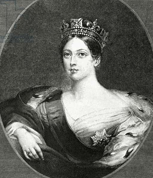 Portrait of Queen Victoria of England (engraving)