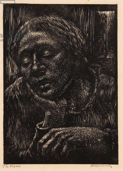 The Negress (woodcut on paper)