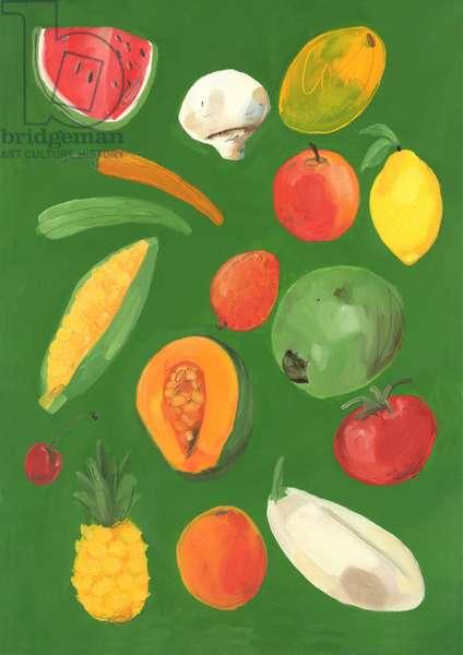 Fruit, 2013 (oil on paper)