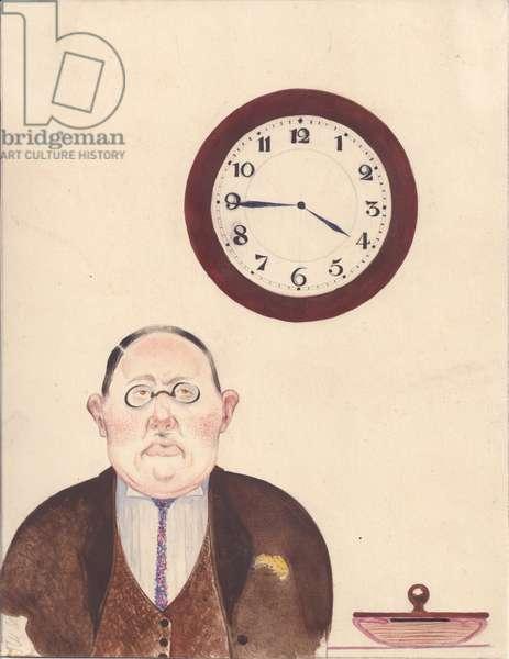 Bureaucrat, 1931 (w/c on paper)
