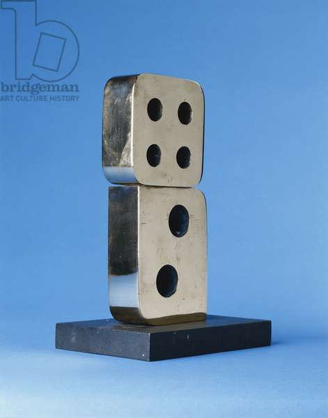 Two Forms (Domino), 1969 (polished bronze)