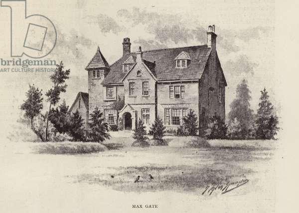 Max Gate, home of Thomas Hardy (litho)