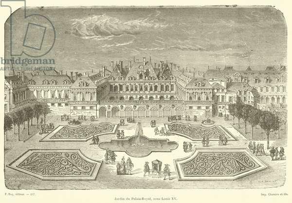Jardin du Palais-Royal, sous Louis XV (engraving)