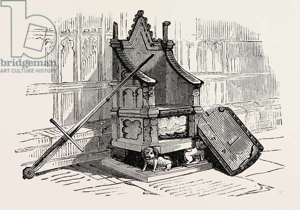 Coronation Chair with the Royal Stone from Scone