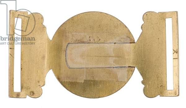 Waistbelt clasp, Madras Staff Corps, 1876-1891 (waistbelt clasp)