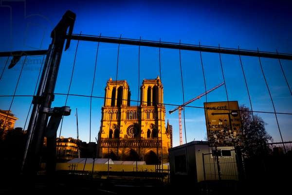 Notre Dame under reconstruction