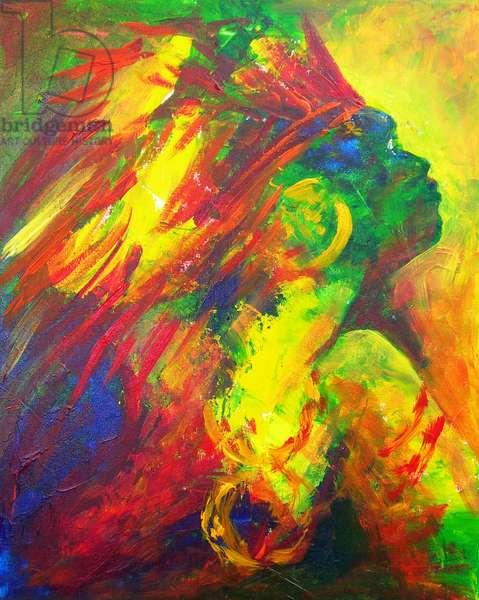 Guatiguana the Taino, 2011 (acrylic on canvas)