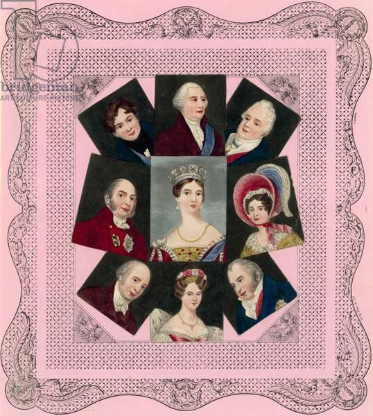 Queen Victoria and her family (chromolitho)
