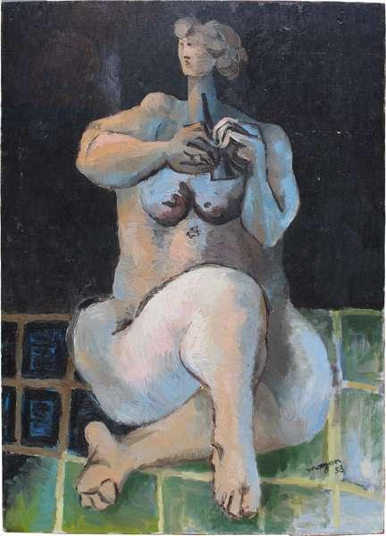 Female nude, 1958 (oil on board)