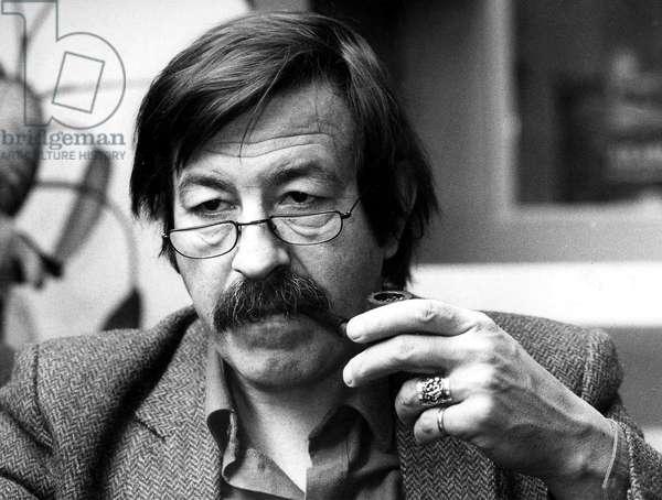 German Writer Gunter Grass January 4, 1981 (b/w photo)