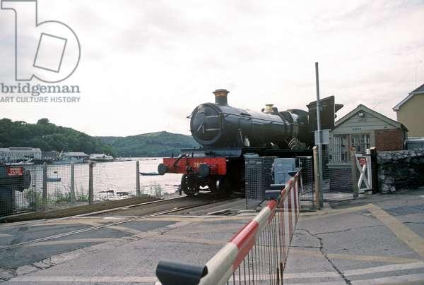 Steam train of the Heritage Dartmouth Steam Railway, Devon, England, UK, 1989 (photo)