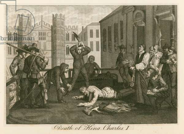 Execution of king Charles I at Whitehall (engraving)