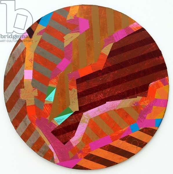 Twixt Heaven & Earth XV-A (acrylic on circular board)