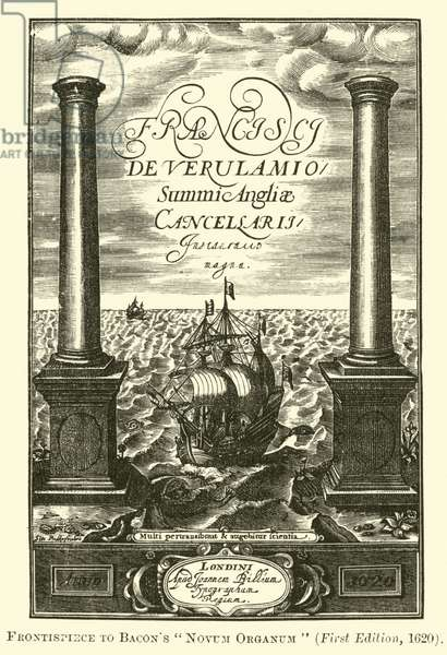 Frontispiece to Bacon's Novum Organum (engraving)