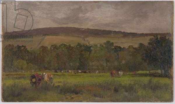 Pastoral landscape, 1881 (oil on board)