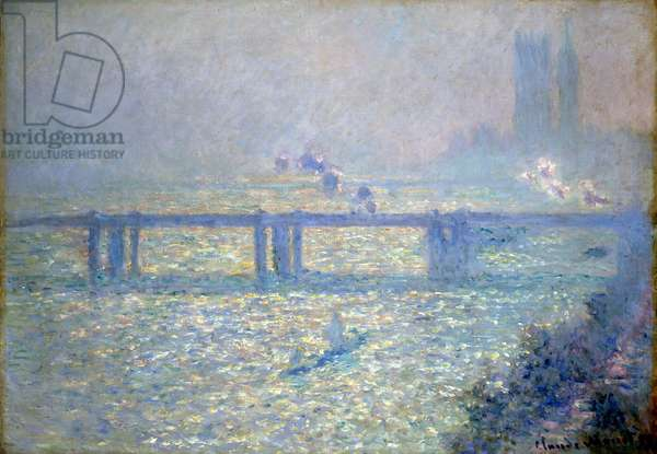 The Thames at Charing Cross Bridge, London, 1899 (oil on canvas)