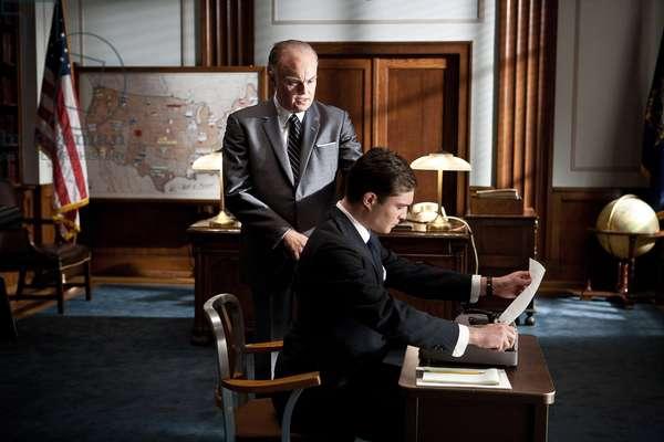 J.Edgar: J. EDGAR, l-r: Leonardo DiCaprio (as J. Edgar Hoover), Ed Westwick, 2011, ph: Keith Bernstein/©Warner Bros. Pictures/courtesy Everett Collection