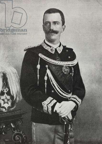 Vittorio Emanuele III (1869-1947), King of Italy, photograph by Brogi, from L'Illustrazione Italiana, Year XXVII, No 31, August 5, 1900