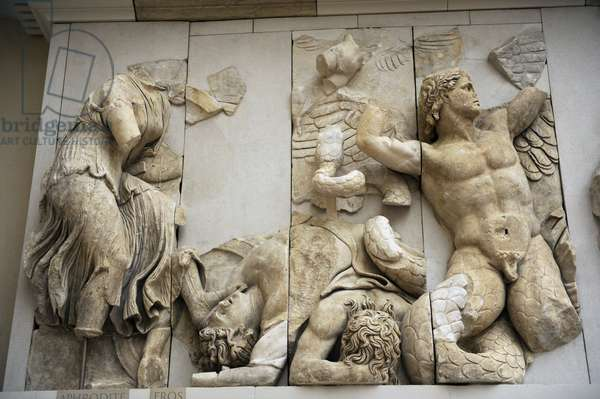 Pergamon Altar. Aphrodite and Eros.