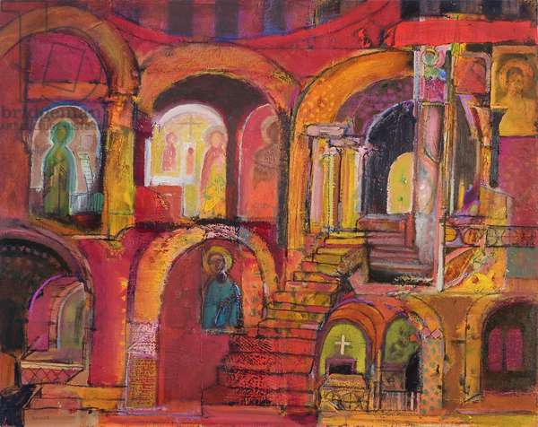 Interior (oil on canvas)
