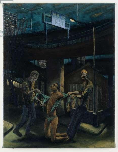Christ stripped, 1999 (oil on linen)