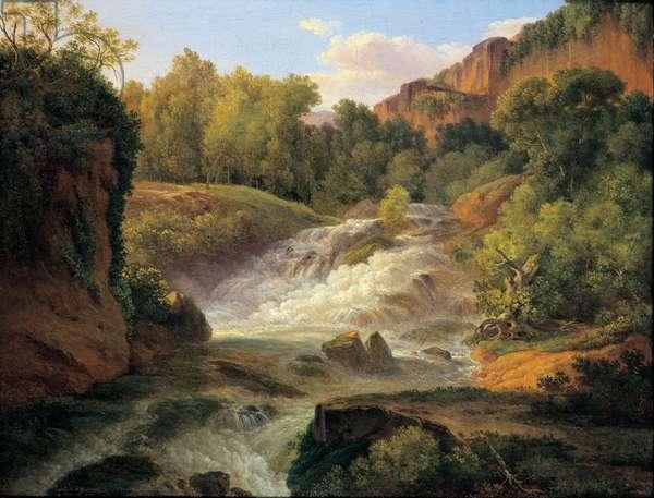 Vallon Traversé par un torrent, 1819 (oil on canvas)