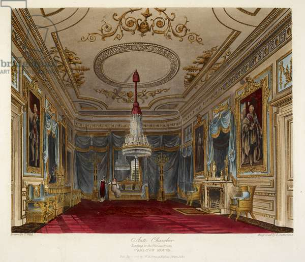 Ante chamber leading to the throne room. Carlton house.