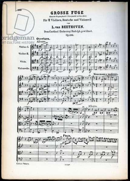 Ludwig van Beethoven's Grosse Fuge