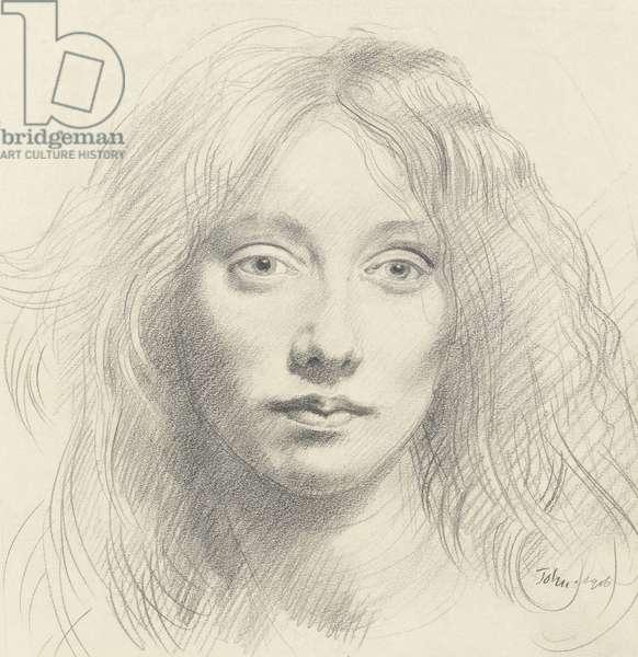 Portrait of Alexandra (Alick) Schepeler, 1906 (graphite on paper)