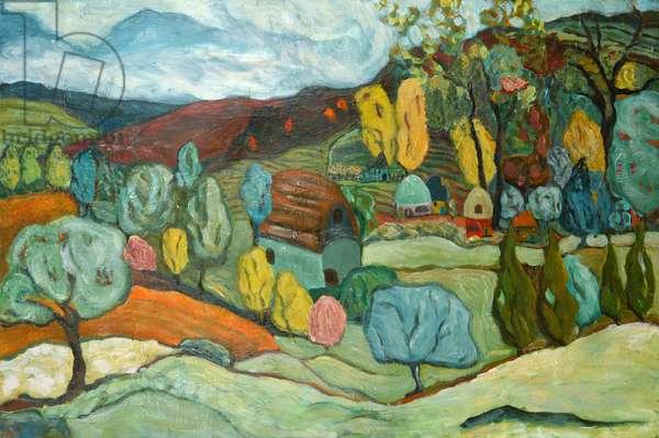 Village Fall, 2019 (acrylic on canvas)