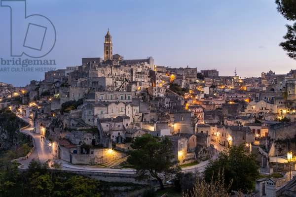 View of Matera, Italy (photo)