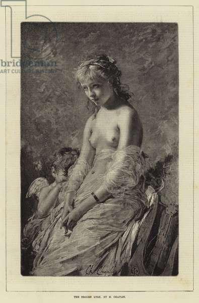 The Broken Lyre, by M Chaplin (engraving)