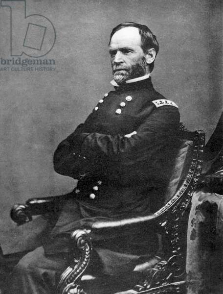 William Tecumseh Sherman (1820-1891) American soldier. In American Civil War 1861-65, one of the Unionist (northern) generals. After photograph by Brady taken in 1869.