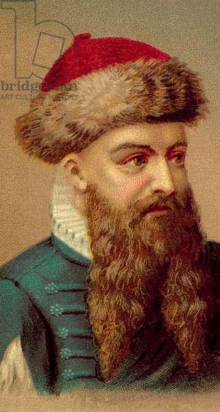 Johann Gutenberg (chromolitho)