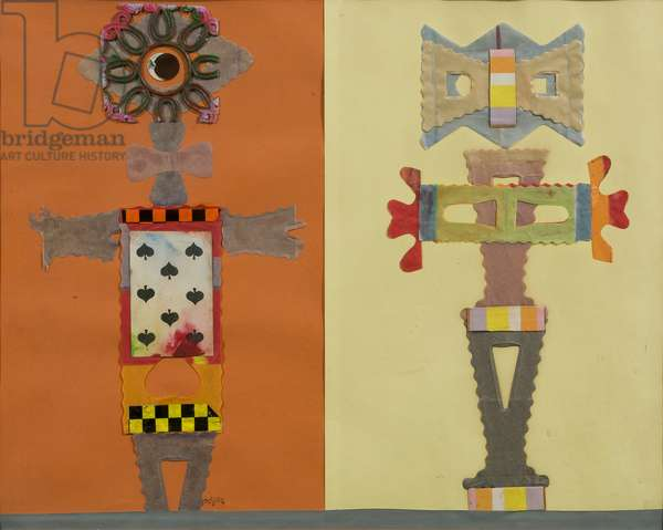 Eight of Spades,  The, 1967 (collage on paper)