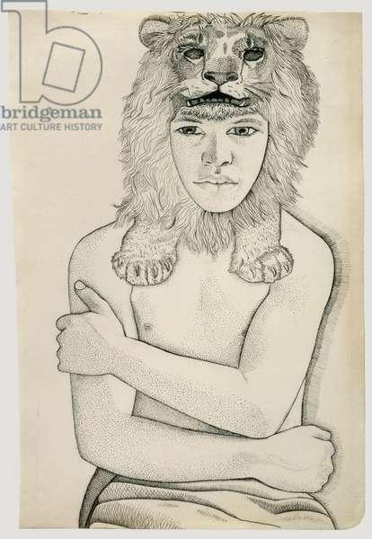 Hercules, 1948 (pen & ink on paper)