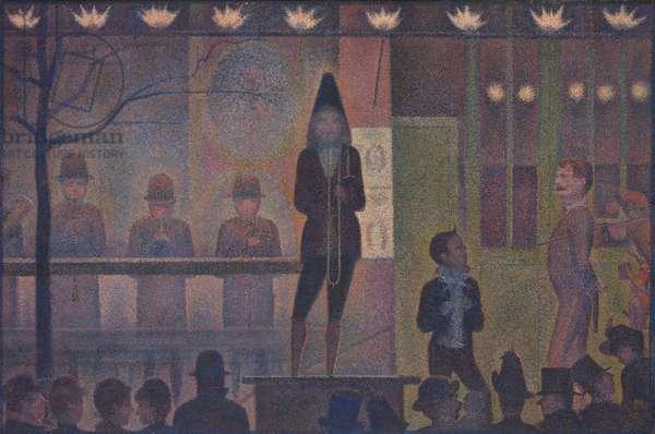Circus Sideshow (Parade de cirque), 1887-88 (oil on canvas)