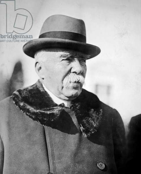 GEORGES CLEMENCEAU (1841-1929). French statesman. Photographed when visiting Washington, D.C. as a private citizen in 1922.