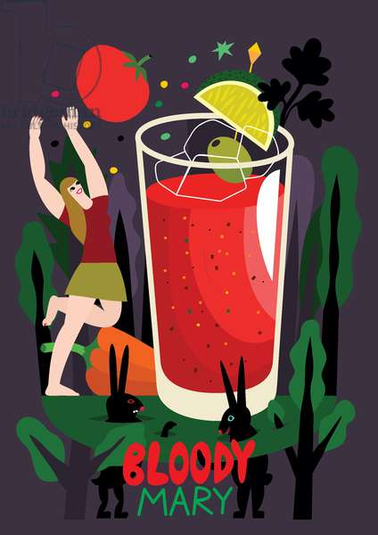 Bloody Mary, 2017, (vector illustration)