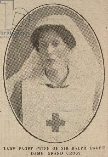 'Lady Paget (wife of Sir Ralph Paget). Dame grand Cross'.