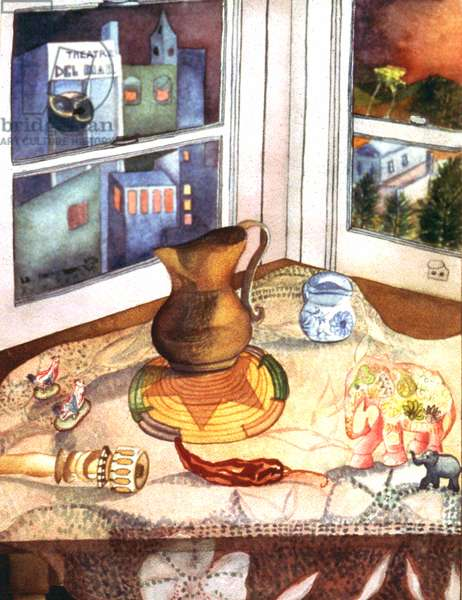 Del Mar Still, 1984 (watercolor)
