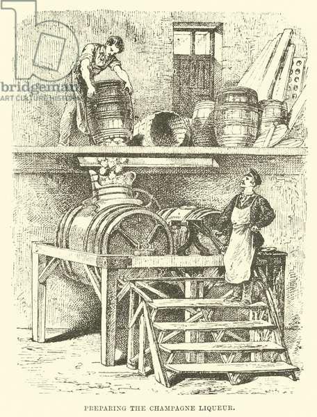 Preparing the Champagne Liqueur (engraving)