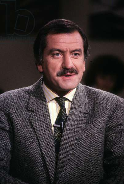 Noel Mamere during TV Programme October 1988 (photo)