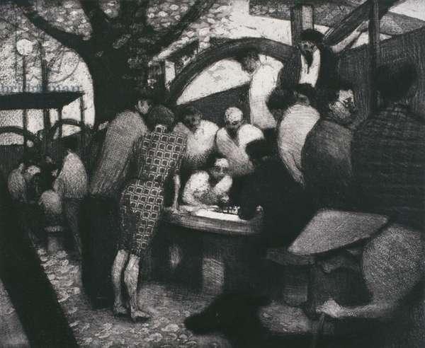 Hong Kong Suite, Chinese Chess, Hong Kong, 1994 (etching)