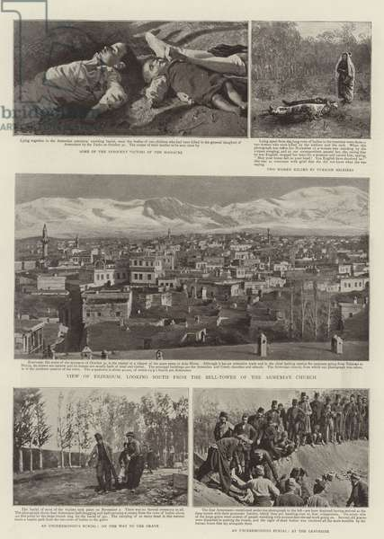 The Massacre at Erzeroum (b/w photo)
